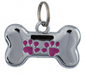 TRIXIE Kość - ozdobna zawieszka do obroży dla psa z miejscem na wpisanie adresu