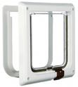TRIXIE Drzwi wahadłowe dla kota na zamek magnetyczny, białe 13 mm