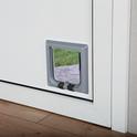 TRIXIE Czterofunkcyjne drzwi dla kota, kolor szary