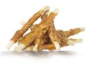 HAU&MIAU Patyki ze skóry owinięte kurczakiem - Naturalny przysmak dla psa, 500g