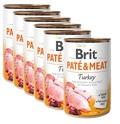 BRIT Pate&Meat Turkey 6x400g PAKIET! mokra karma z indykiem dla psa