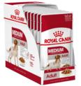 ROYAL CANIN Medium Adult Pakiet 10 szt. - Mokra karma dla psów dorosłych ras średnich, Saszetka 140 g