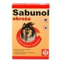 Sabunol Obroża Ozdobna- obroża przeciw kleszczom i pchłom dla psów, kolor czerwony