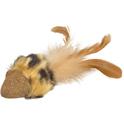 FLAMINGO Myszka Penken z kocimiętki i piórkami - zabawka dla kota