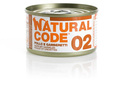NATURAL CODE 02 puszka 85g kurczak i krewetki, mokra karma dla kota
