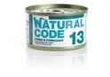 NATURAL CODE 13 puszka 85g tuńczyk i ser, mokra karma dla kota