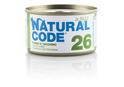 NATURAL CODE 26 puszka 85g tuńczyk i indyk, mokra karma dla kota