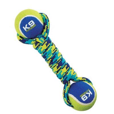 hantelek sznurek pleciony z 2 piłkami dla psa