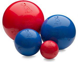 twarda piłka z grubego plastiku dla psa boomer ball