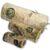 drewniany tunel zabawka dla gryzonia wypełniony siankiem