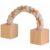 trixie toy rope sznur drewniany z kostkami zabawka dla świnki morskiej